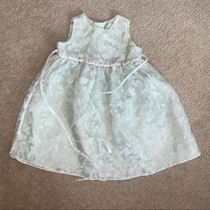 Other - EUC green lace floral/fauna dress